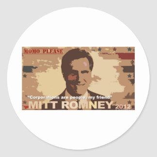 Mitt Romney President 2012 Round Stickers