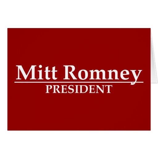 Mitt Romney President Greeting Card