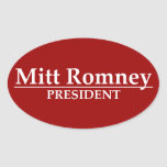 Mitt Romney President Oval Sticker