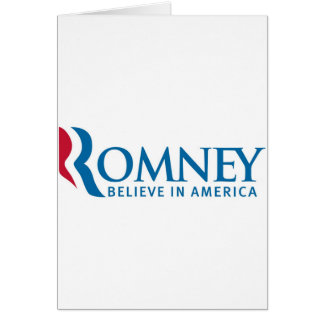 Mitt Romney Presidential Campaign Election Product Greeting Card