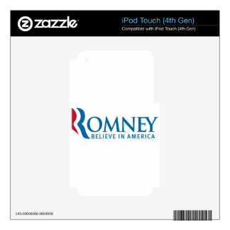 Mitt Romney Presidential Campaign Election Product iPod Touch 4G Decals