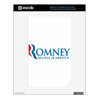 Mitt Romney Presidential Campaign Election Product Skins For NOOK Color