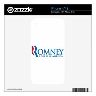 Mitt Romney Presidential Campaign Election Product iPhone 4 Decals