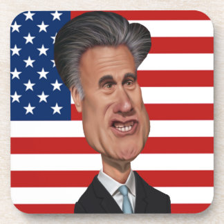 Mitt Romney Presidential Caricature USA Coaster