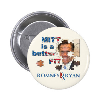 Mitt Romney Puzzle Pinback Button
