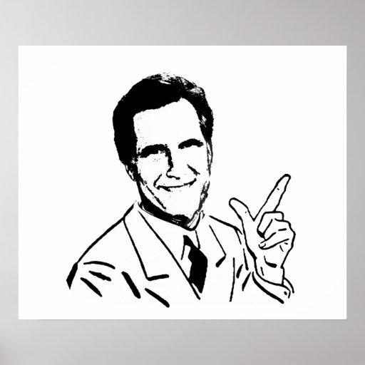 Mitt Romney que habla Posters