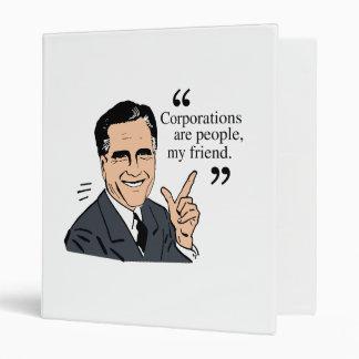 Mitt Romney Quotes color Vinyl Binders