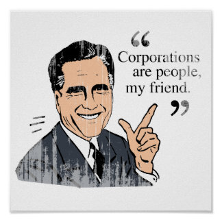 Mitt Romney Quotes color Faded png Poster