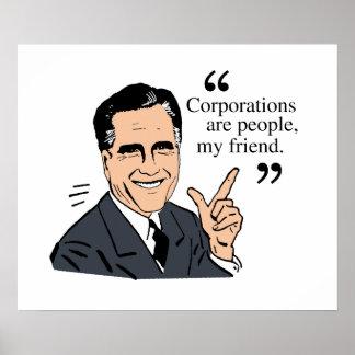 Mitt Romney Quotes color Print