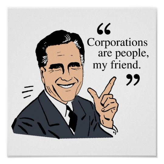 Mitt Romney Quotes color Poster