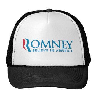 Mitt Romney R Logo Believe In America 2012 Hat