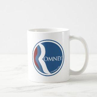 "Mitt Romney ""R"" Logo Circle (Blue) Coffee Mug"