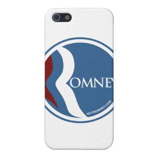 "Mitt Romney ""R"" Logo Circle (Blue) iPhone SE/5/5s Cover"