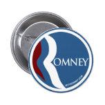 "Mitt Romney ""R"" Logo Circle (Blue) Pinback Buttons"