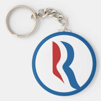 """Mitt Romney """"R"""" Logo Keychain"""