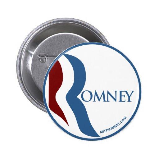 """Mitt Romney """"R"""" Logo Pin"""