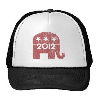 Mitt Romney Republican Elephant 2012 Distressed Trucker Hats