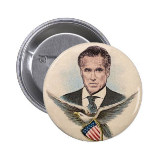 Mitt Romney retro Pin Redondo De 2 Pulgadas