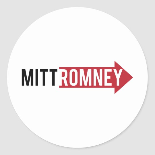 Mitt Romney Right Classic Round Sticker
