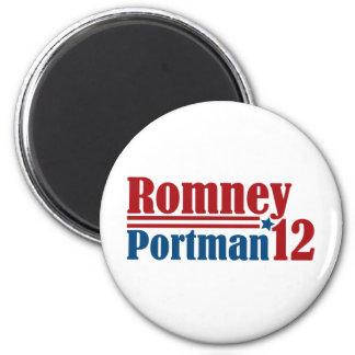Mitt Romney Rob Portman 2012 2 Inch Round Magnet