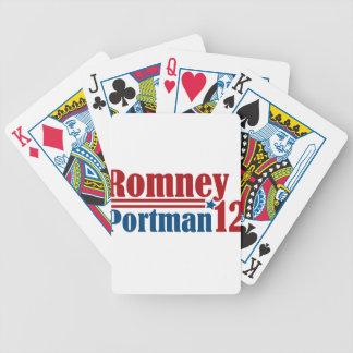 Mitt Romney Rob Portman 2012 Bicycle Playing Cards
