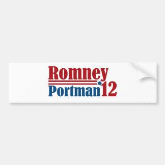 Mitt Romney Rob Portman 2012 Bumper Sticker