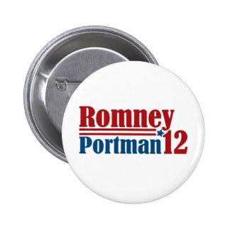 Mitt Romney Rob Portman 2012 Button