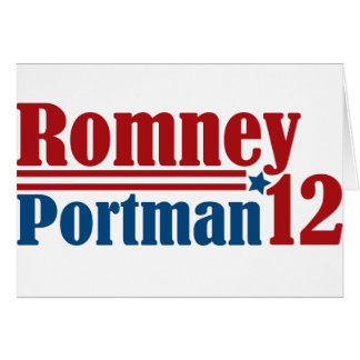 Mitt Romney Rob Portman 2012 Card