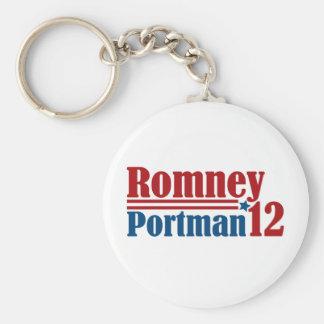 Mitt Romney Rob Portman 2012 Keychain