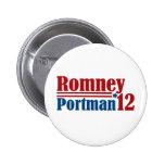 Mitt Romney Rob Portman 2012 Pin