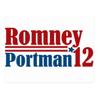 Mitt Romney Rob Portman 2012 Postcard