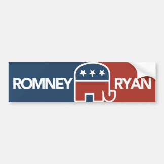 Mitt Romney Ryan Elephant Bumper Sticker