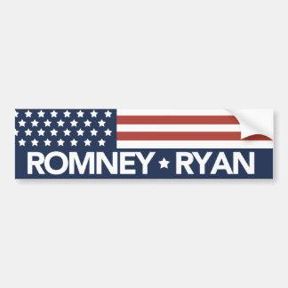 Mitt Romney Ryan Flag Bumper Sticker 2012 Car Bumper Sticker