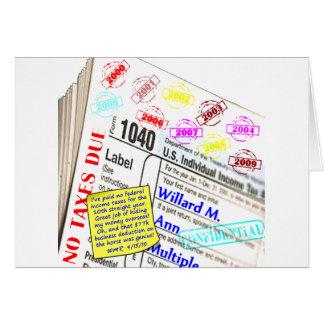 Mitt Romney's 2009 Tax Return Card
