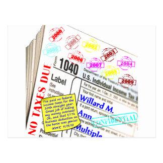 Mitt Romney's 2009 Tax Return Postcard