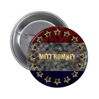 Mitt Romney Stars and Stripes Button