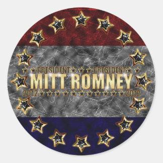 Mitt Romney Stars and Stripes. Classic Round Sticker
