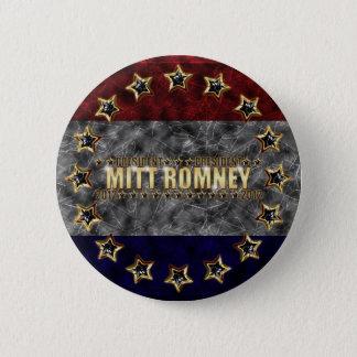 Mitt Romney Stars and Stripes. Pinback Button