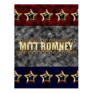Mitt Romney Stars and Stripes. Postcard
