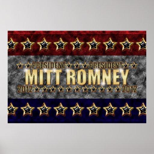 Mitt Romney Stars and Stripes. Print
