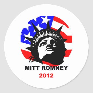 Mitt Romney Round Sticker