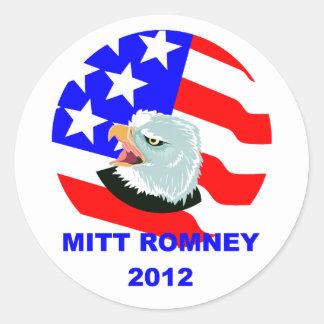 Mitt Romney Round Stickers