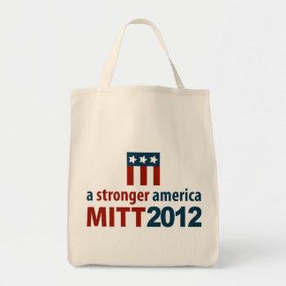 Mitt Romney Stronger America Organic Grocery Tote Bag