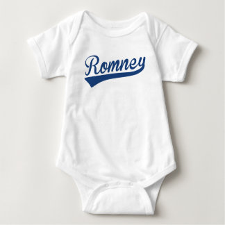 Mitt Romney Swoosh Logo (Blue) Baby Bodysuit