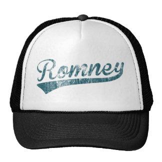 Mitt Romney Swoosh Logo Blue - Distressed Hat