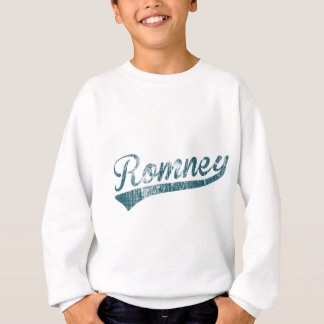 Mitt Romney Swoosh Logo (Blue - Distressed) Sweatshirt