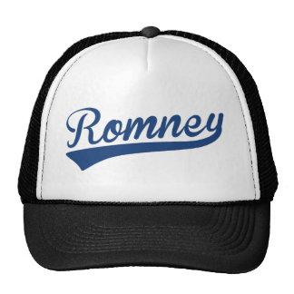 Mitt Romney Swoosh Logo Blue Mesh Hats