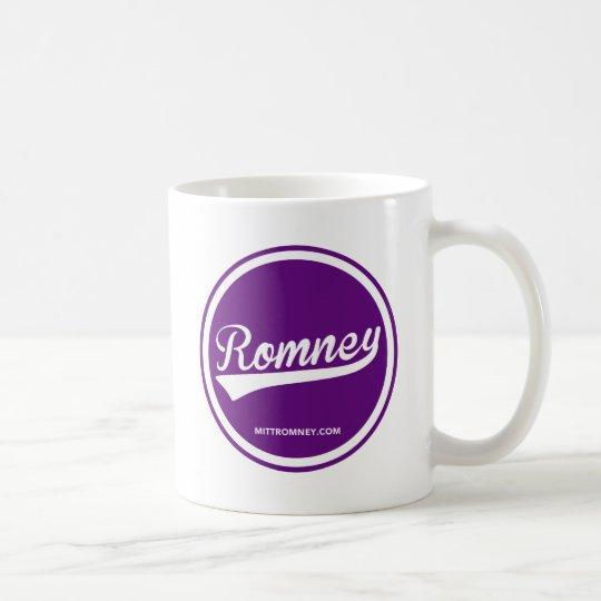 Mitt Romney Swoosh Logo (Purple) 2012 Coffee Mug
