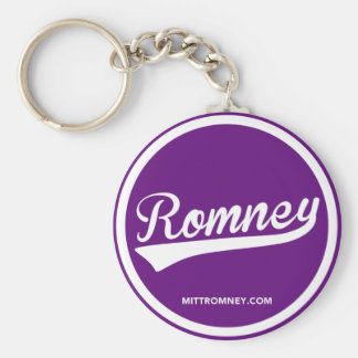 Mitt Romney Swoosh Logo (Purple) 2012 Keychain
