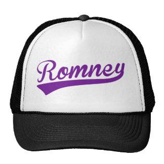 Mitt Romney Swoosh Logo Purple Hat